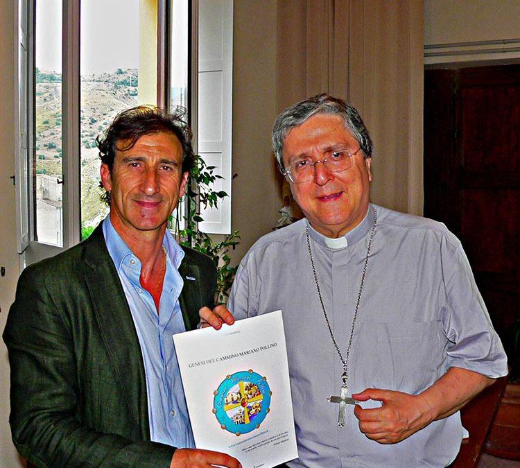 Martino presenta al Vescovo il progetto del Cammino Mariano Pollino